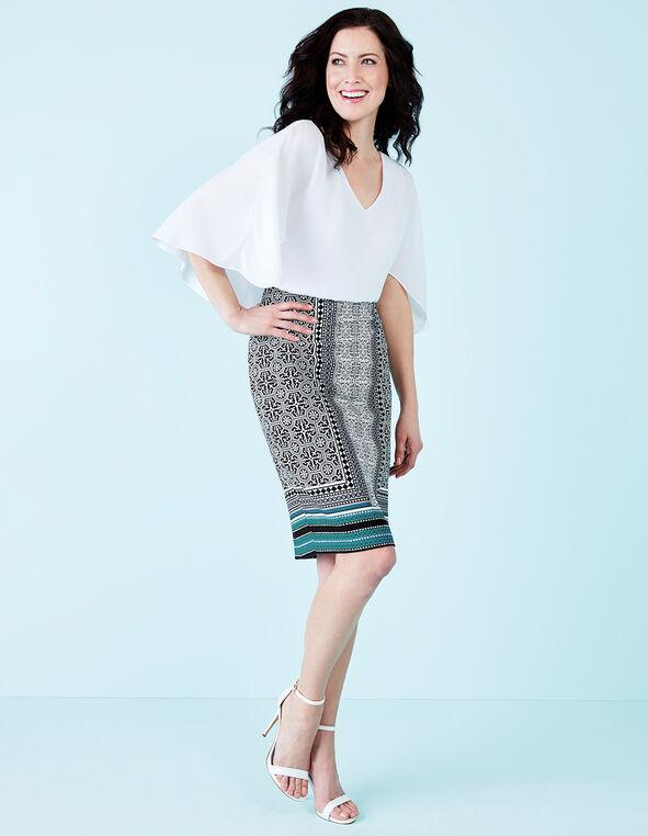 Rio Frio Print Pencil Skirt, Rio Frio/Black/White, hi-res