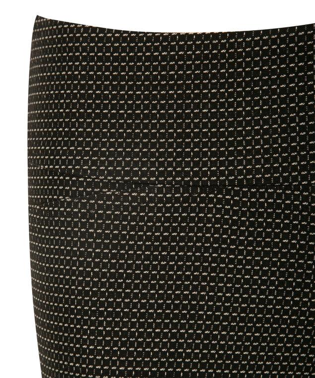 Microtwill Super Slim Leg Capri, Black Print, hi-res