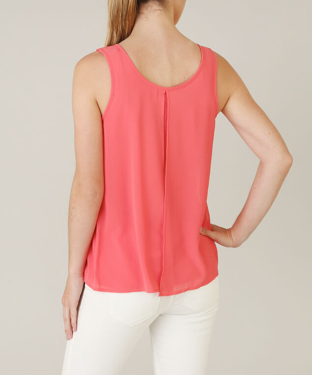 blouse with knit lining - wb, CORAL, hi-res