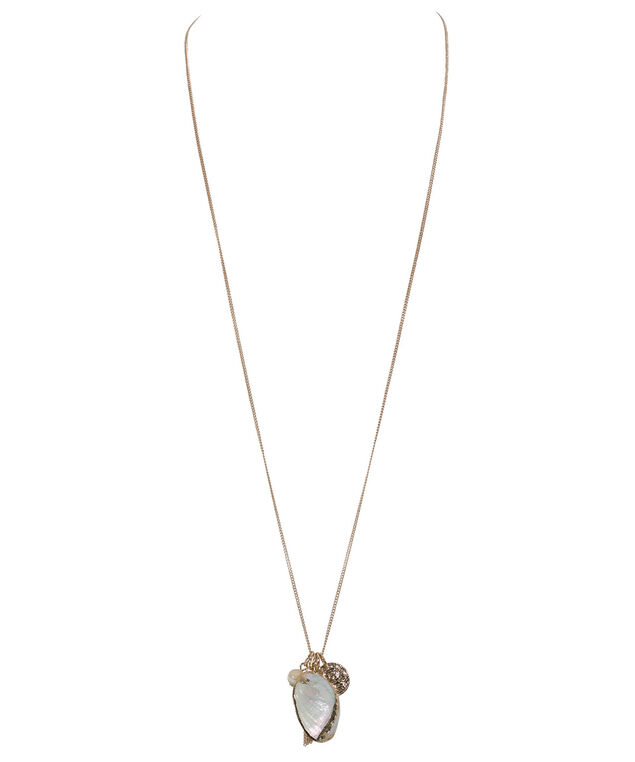 Starfish Cluster Necklace, Gold, hi-res