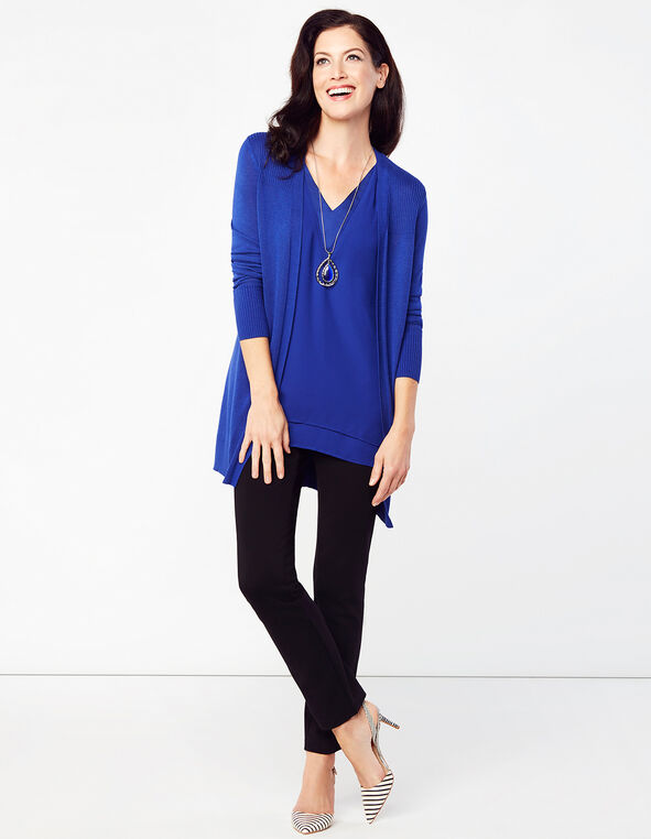 Royal Blue Cardigan Sweater, Royal Blue, hi-res