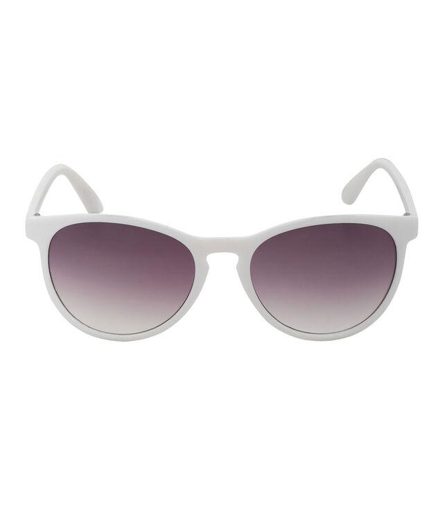 Opaque White Sunglasses, White, hi-res