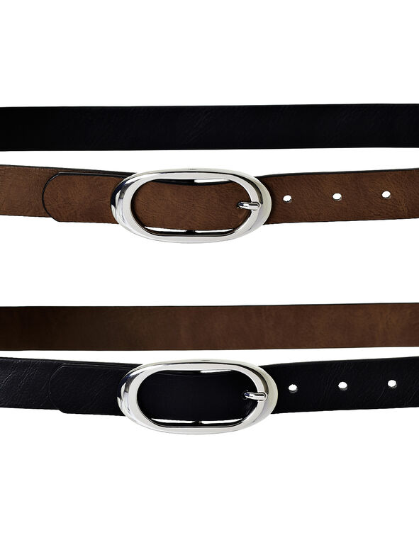 Black Tan Reversible Belt, Black/Tan, hi-res