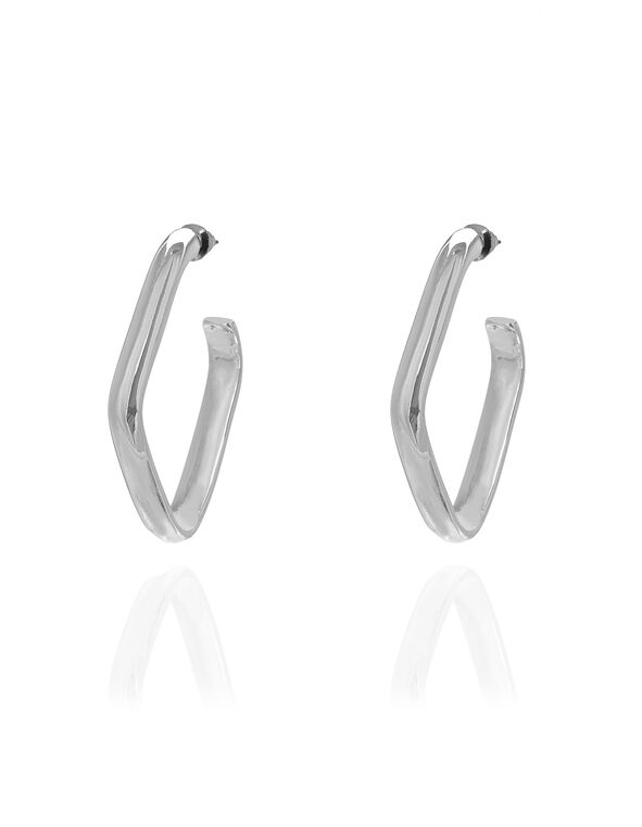 Geometric Earring, Silver, hi-res