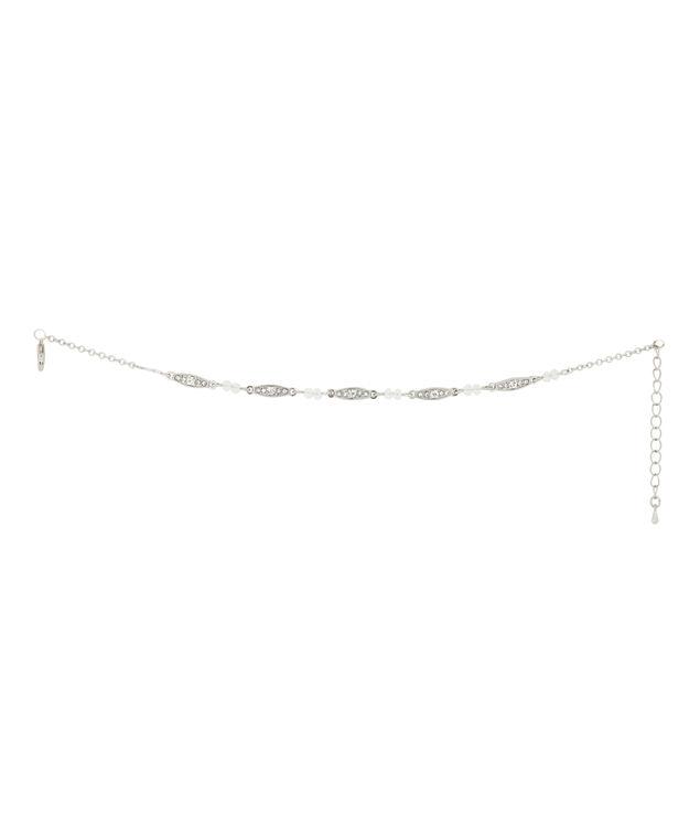 single strand anklet, SILVER, hi-res