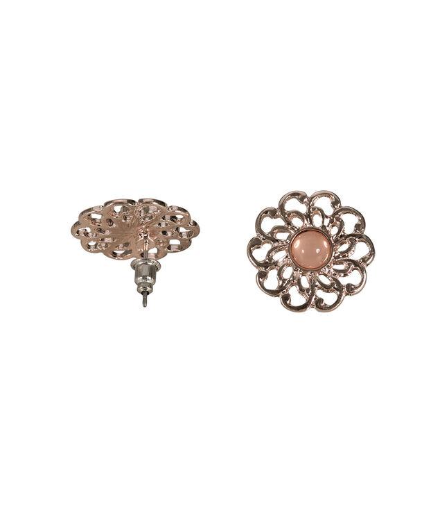 Rose Gold Cutout Earring, Pink/Rose Gold, hi-res