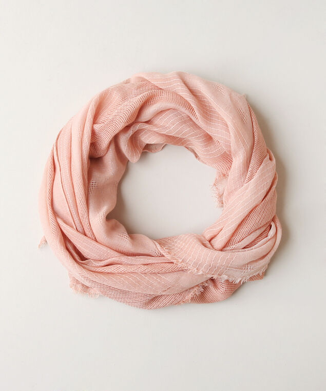 coral mix oblong crinkle scarf, CORAL MIX, hi-res