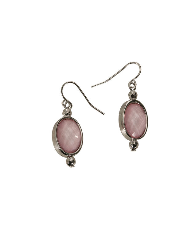Glitter Stone Earring, Soft Pink/Rhodium, hi-res