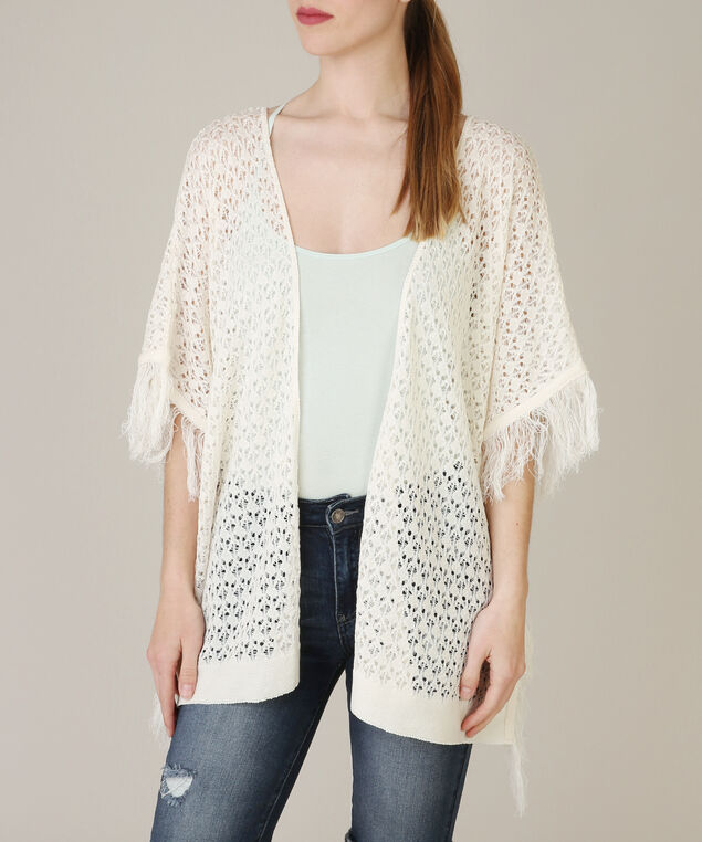 pointelle cardi with fringe - wb, PRISTINE, hi-res
