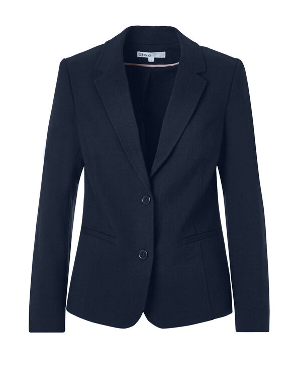 Navy Suiting Blazer, Navy, hi-res