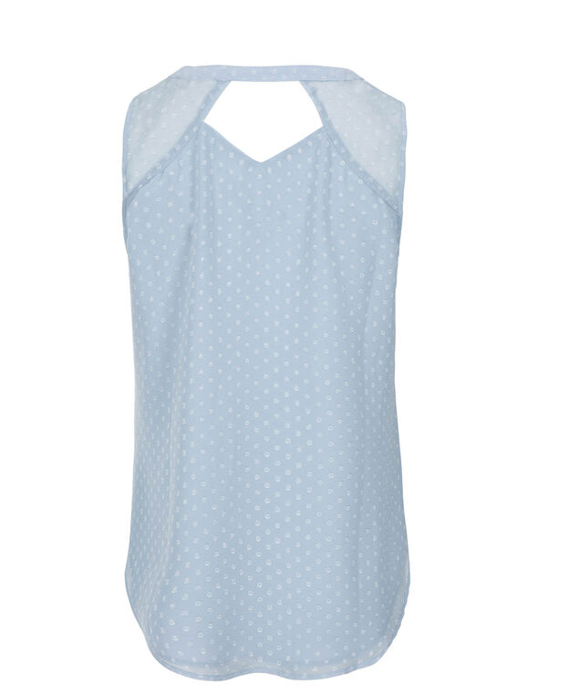Henley Blouse, Soft Blue, hi-res