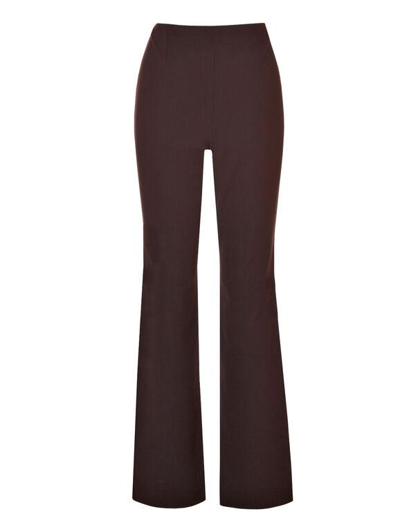 Brown Pull-On Trouser Pant, Brown, hi-res