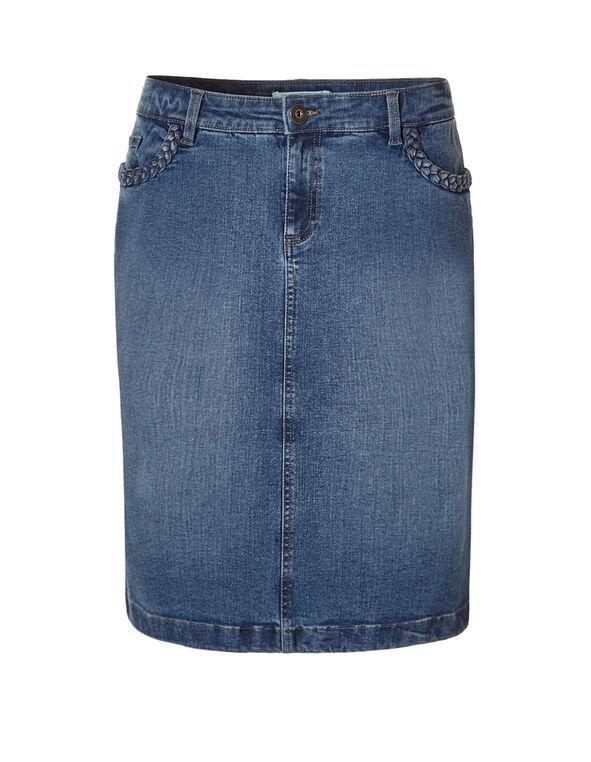 Medium Wash Denim Skirt, Medium Wash, hi-res