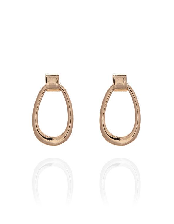 Rose Gold Teardrop Earring, Rose Gold, hi-res