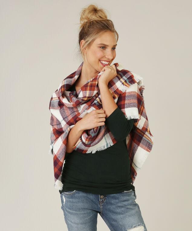plaid blanket scarf, MULTI, hi-res
