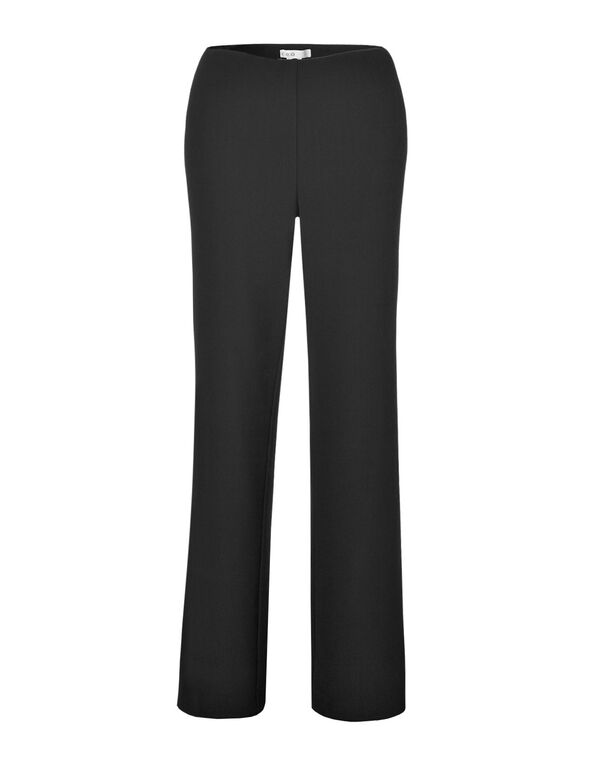Black Ottoman Straight Leg Pant, Black, hi-res