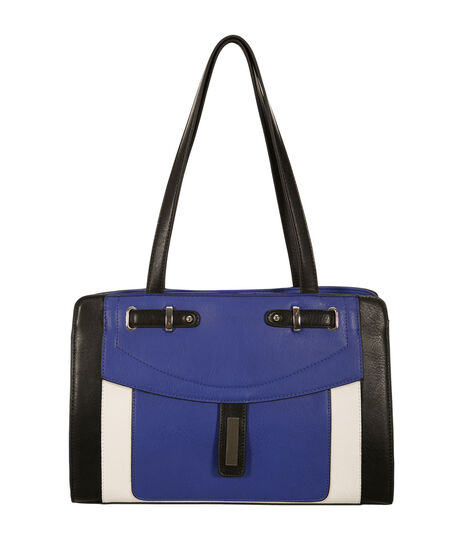 Colourblock East West Bag, Sapphire/Black/Milkshake, hi-res