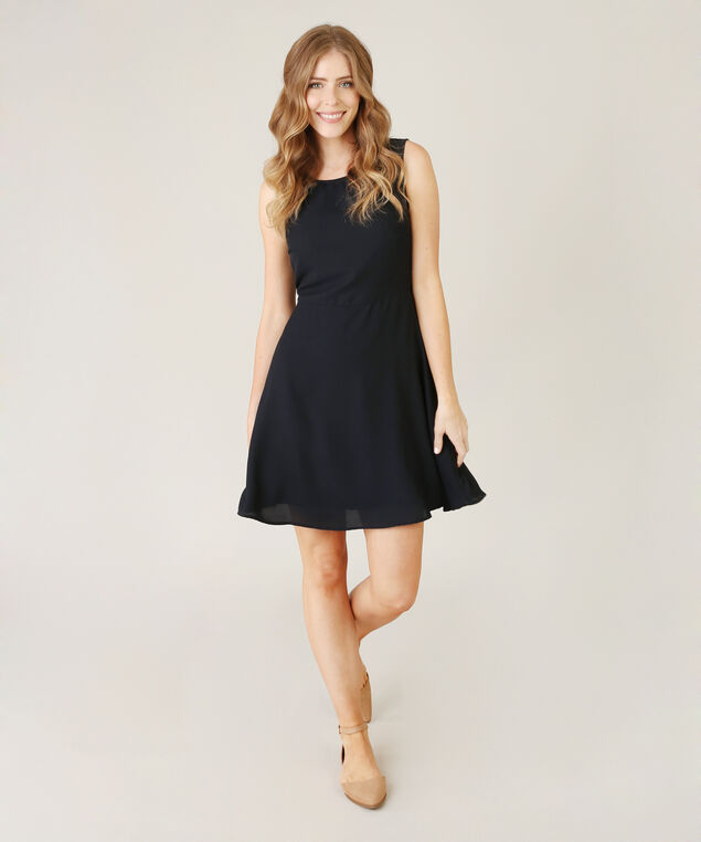 exposed back dress - wb, NAVY, hi-res