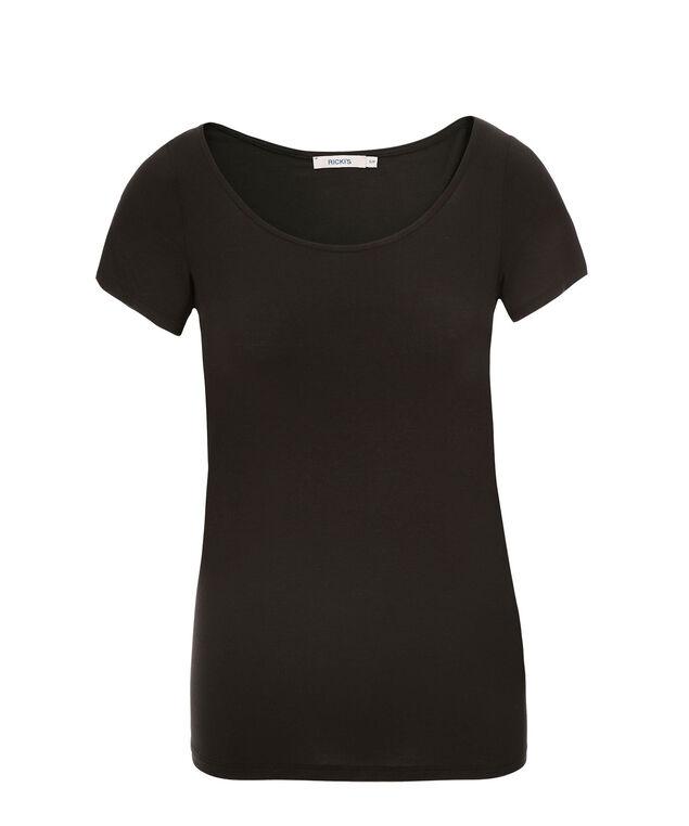 Short Sleeve Layering Essential, Black, hi-res