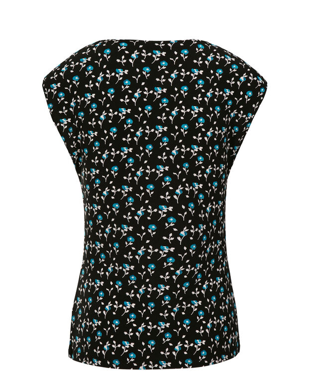 Tab Front Top, Turquoise Print, hi-res