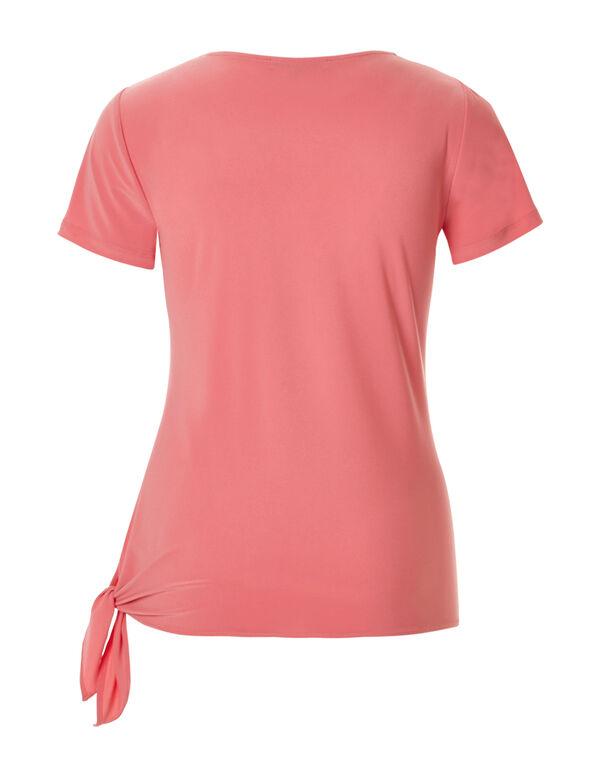 Coral Side Tie Top, Coral, hi-res