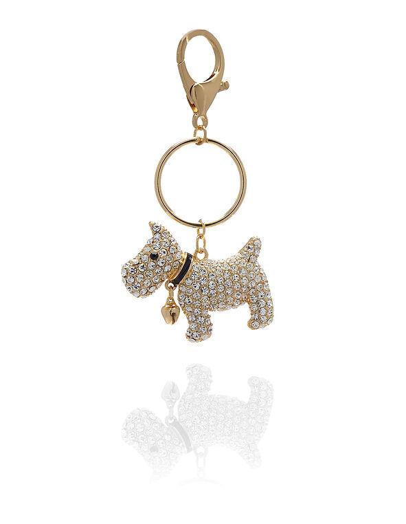 Gold Dog Handbag Charm, Gold, hi-res