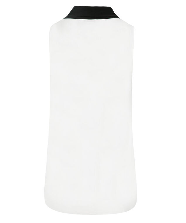 Bow Front Tank, White/Black, hi-res