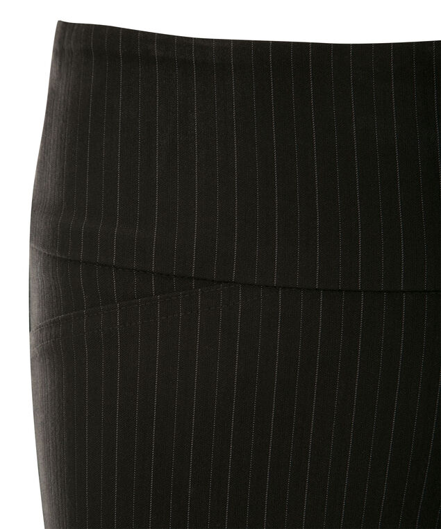 Microtwill Instant Smooth Bootcut, Black Pinstripe, hi-res