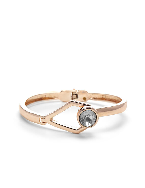 Rose Gold Hinge Bracelet, Rose Gold, hi-res