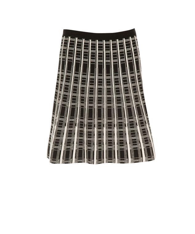 Plaid Sweater Skirt, Black/Milkshake, hi-res