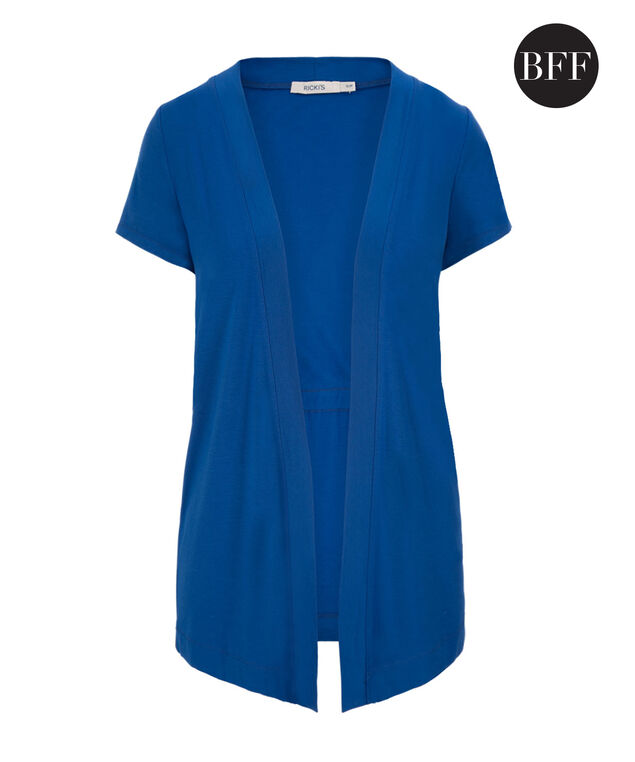 Short Sleeve Cover Up, Marine Blue, hi-res