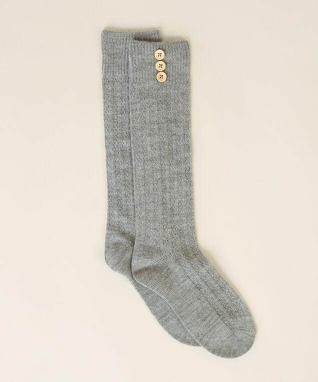 women's knee high sock, GREY, hi-res