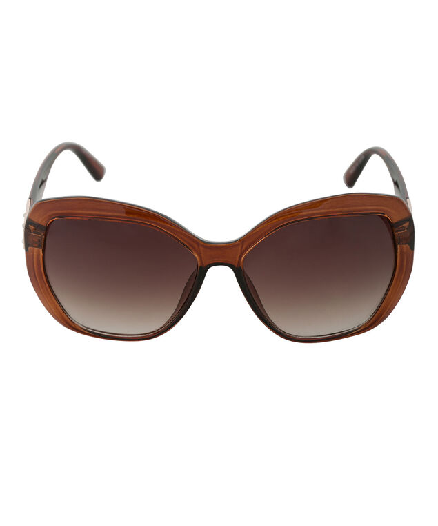 Crystal Temple Sunglasses, Brown/Gold, hi-res