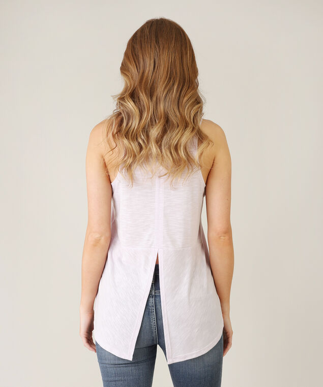 bare tank top with split back - wb, LILAC, hi-res