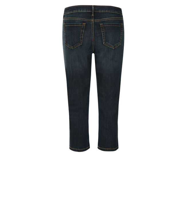 Brooke Ultra Soft Dark Wash Capri, Denim, hi-res