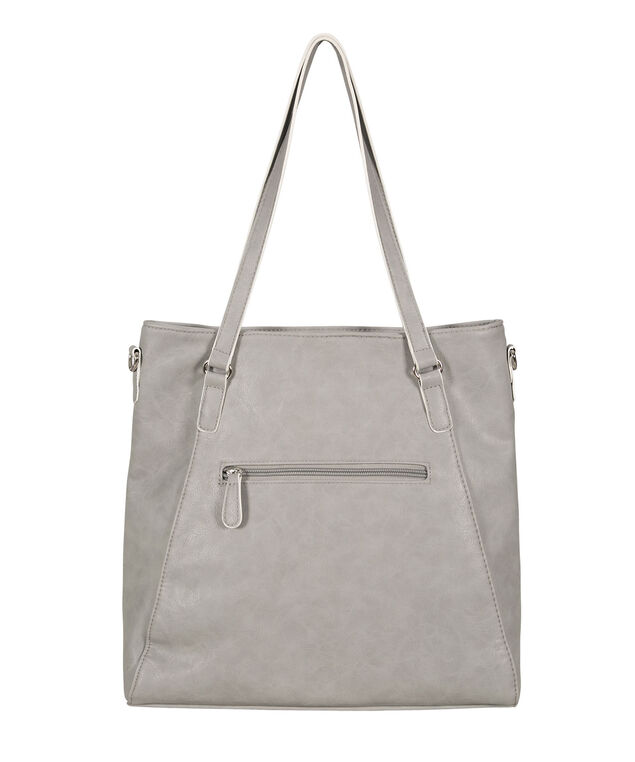 Piping Detail Tote Bag, Light Grey/Milkshake, hi-res