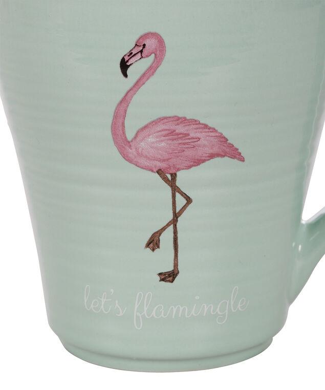 Flamingle Coffee Mug, Mint/Pink, hi-res