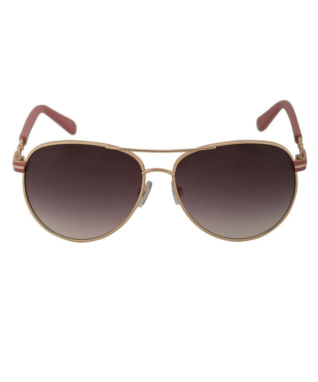 Pink Aviator Sunglasses, Pink/Gold, hi-res