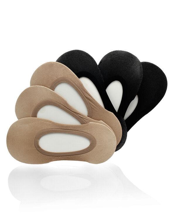 Nude and Black Shoe Liner Set, Nude/Black, hi-res