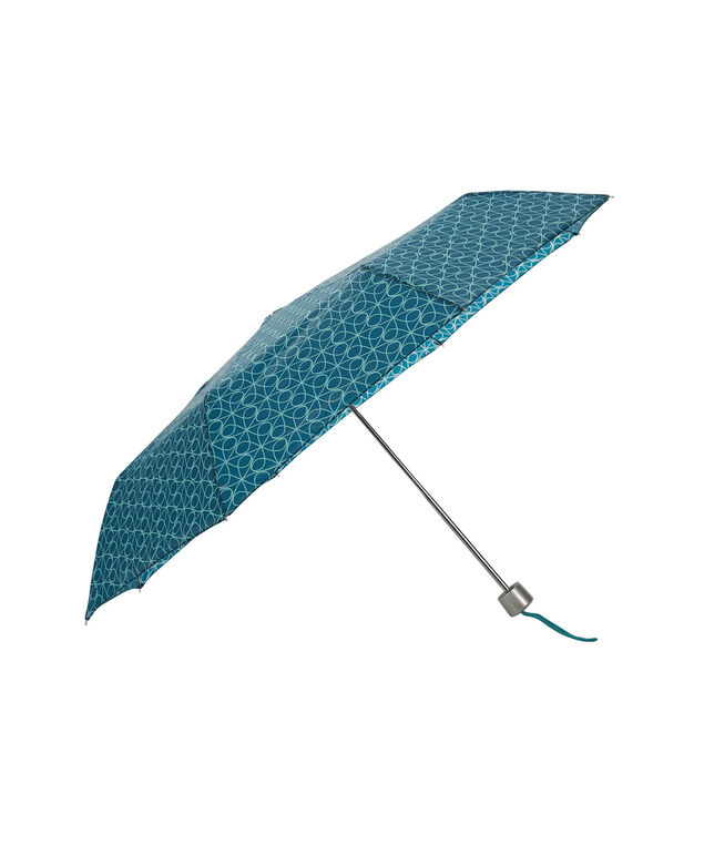 Swirl Print Umbrella, Blue, hi-res