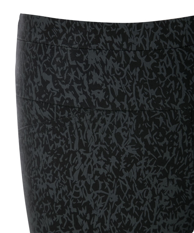 Microtwill Super Slim Leg, Black Print, hi-res