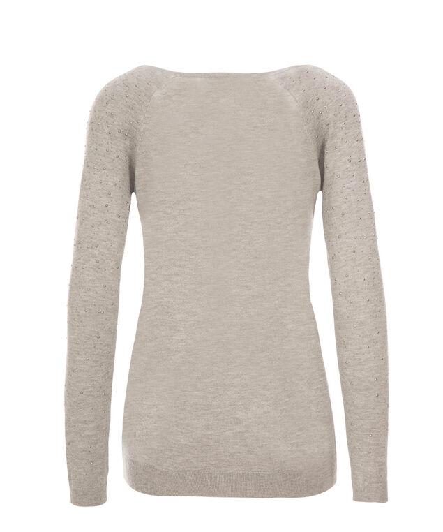 Arm Stud Pullover, Grey, hi-res