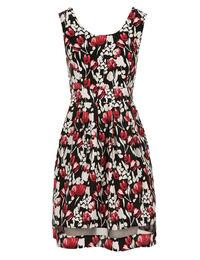 Organza Detail Fit & Flare Dress