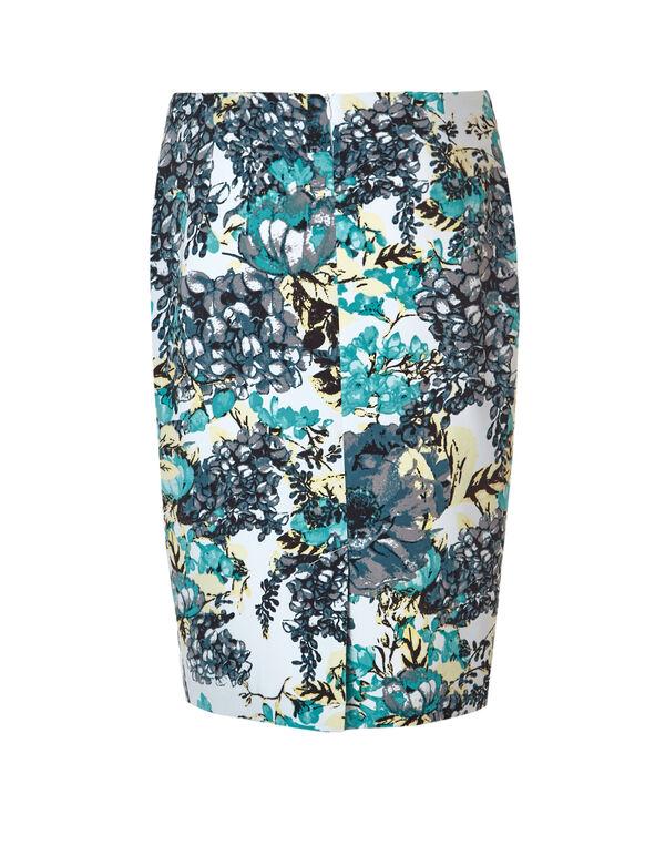 Rio Frio Floral Pencil Skirt, Rio Frio/Yellow/White, hi-res