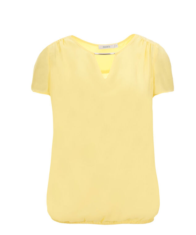 Cap Sleeve Bubble Blouse, Yellow, hi-res