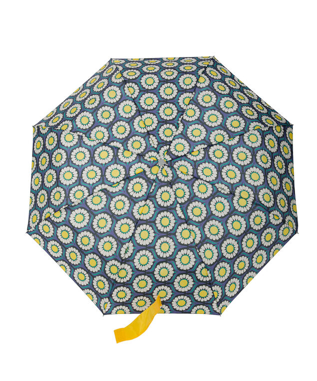 Daisy Print Umbrella, Blue/Yellow, hi-res