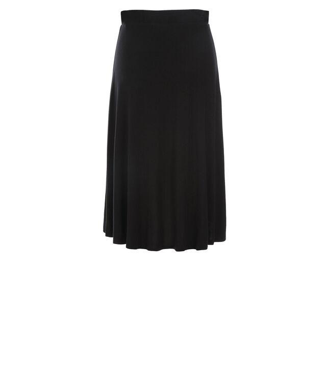 Knit High Low Skirt, Black, hi-res