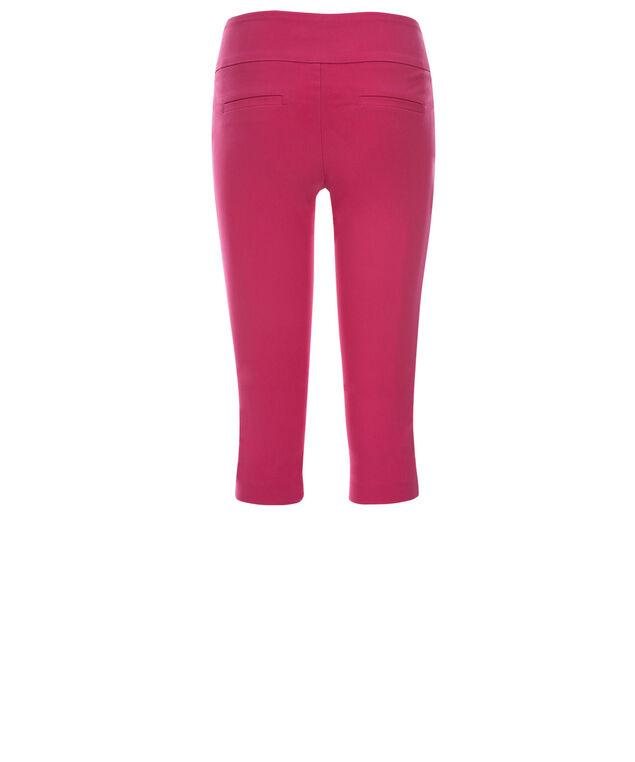 Microtwill Super Slim Leg Capri, Pink, hi-res