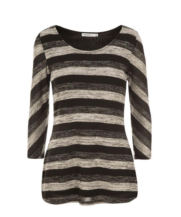 Stripe Hacci Tunic, Grey Mix, hi-res