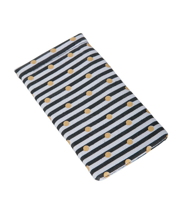 Stripe & Dot Sunglass Case, Blue/White/Gold, hi-res